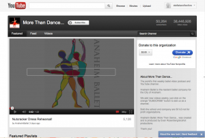 The Anaheim Ballet on YouTube